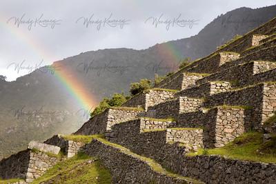 Rainbows and Terraces- Machu Picchu, Peru