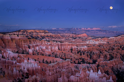 Moonrise Over Bryce Canyon- Bryce National Park