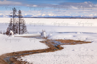 Yellowstone Lake inWinter- Yellowstone National Park