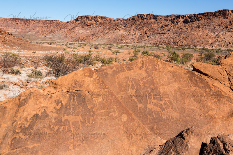 Ancient Art at Twyfelfontein, Namibia