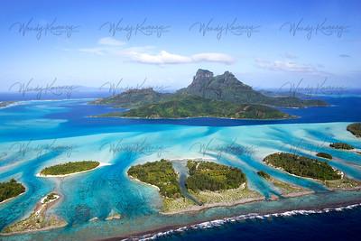 Above Bora Bora- French Polynesia