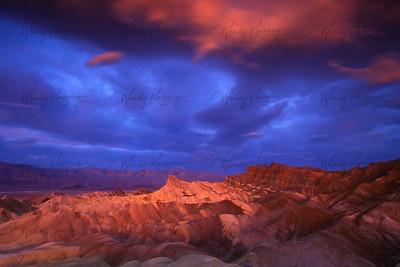 Sunrise at Zabriskie Point- Death Valley National Park
