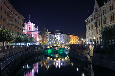 "Beautiful ""Ljubljana"" at night"