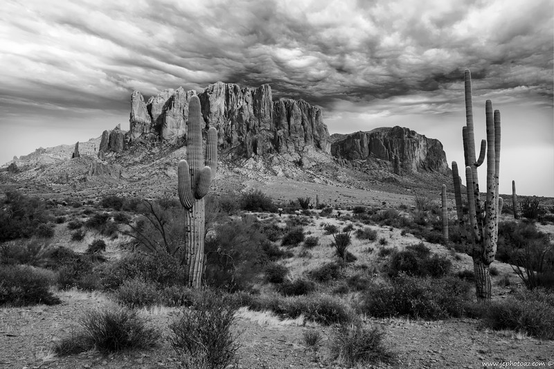 Superstition Mt's  (B and W)