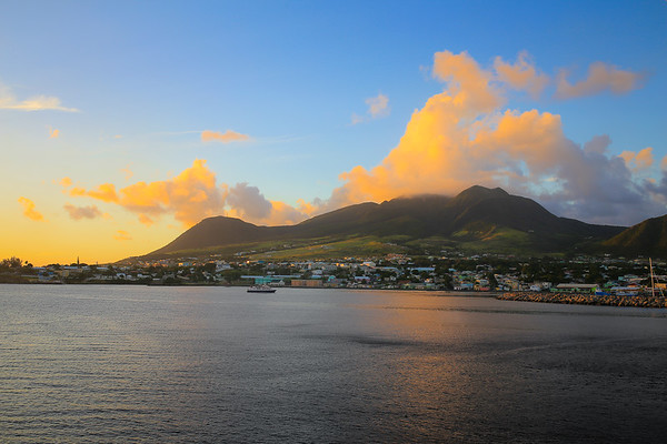 SUNSET ON ST.KITTS, CARIBBEAN