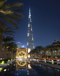 "View on the ""Burj Khalifa"" in Dubaï"