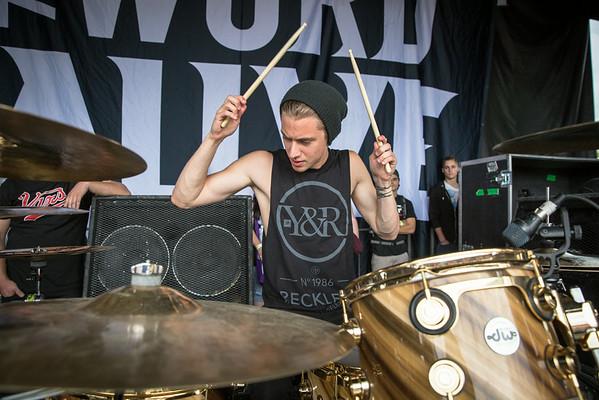 Luke Holland at Warped Tour in Portland, OR