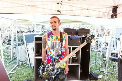 Daniel Shapiro Backstage at Warped Tour in Las Vegas, NV
