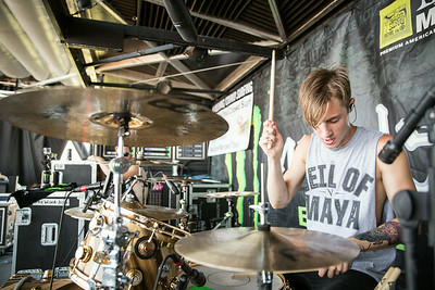 Luke Holland at Warped Tour in Phoenix, AZ