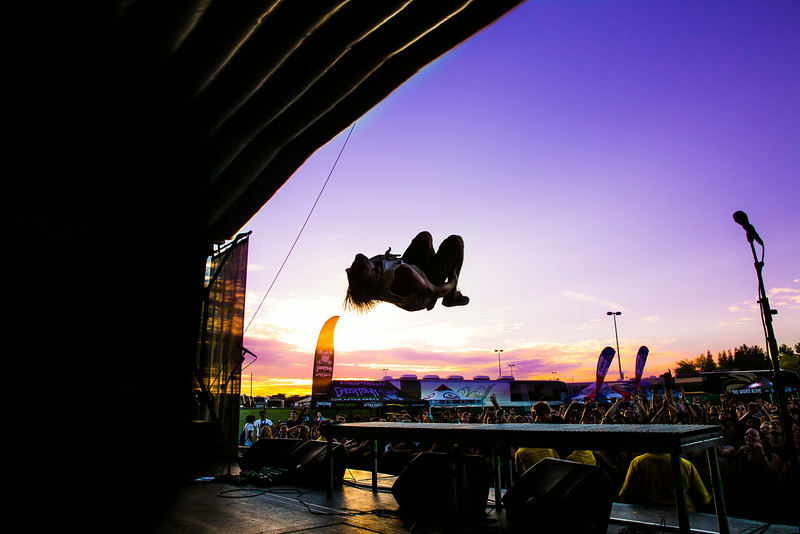 Telle Sunset Backflip in Wheatland, CA on Warped Tour