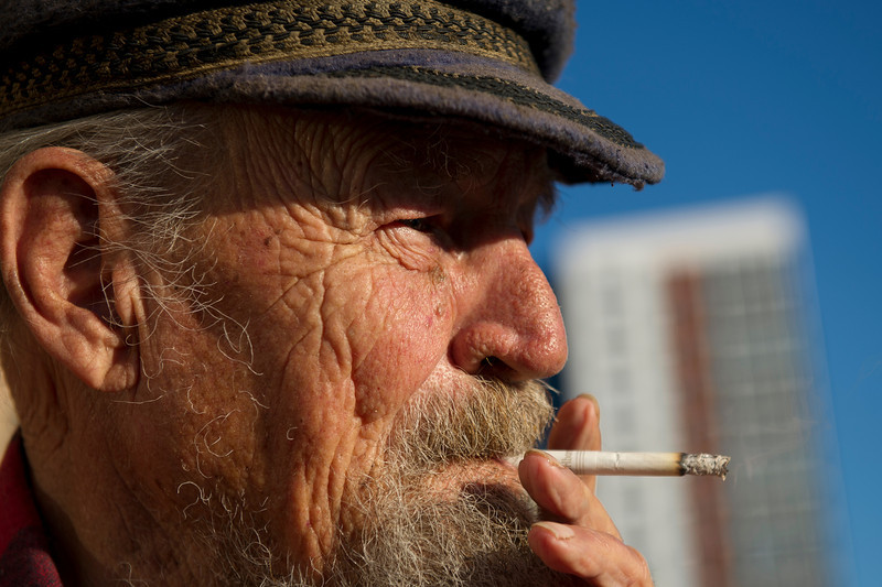 Bob Srnka has started every day with a cigarette for 64 years, and Wednesday, June 6, 2012 is no exception. Srnka, 84, is one of dozens who live in the houseboats of San Francisco's Mission Creek Harbor, located in Mission Creek Channel. He is also the resident who has lived there the longest. Srnka and his late wife Glendora first moved into a houseboat there in 1972, but she made him smoke outside. He continues to honor her wishes even though she passed away in December 2010.