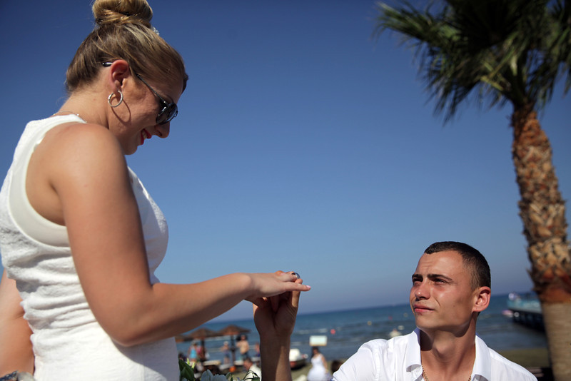 Mass wedding ceremony in Cyprus