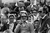 Manifestacion de Familiares de desaparecidos en los ultimo meses de la dictadura, 1983. Hebe de Bonafini y Adolfo Perez Ezquivel en la foto.