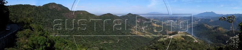 View from the Rio-Petropolis highway, looking toward Rio de Janeiro, in the distance, center. (Australfoto/Douglas Engle)