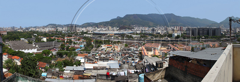 A View of the of the Maracana Stadium from the Mangueira slum in Rio de Janeiro, Oct, 26, 2011. The stadium, built for the 1950 Soccer World Cup, is undergoing a complete overhaul for the 2014 World Cup, where it will host the final. (Australfoto/Douglas Engle)