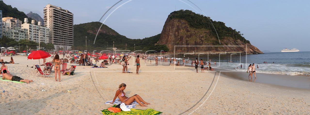 "Leme Beach in Rio de Janeiro. Approximate location:  22°57'48.61""S, 43°10'2.25""W (Australfoto/Douglas Engle)"