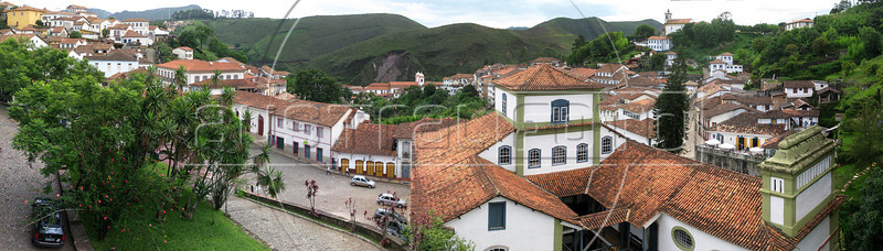 A view of the historic town of Ouro Preto, in the Brazilian state of Minas Gerais.