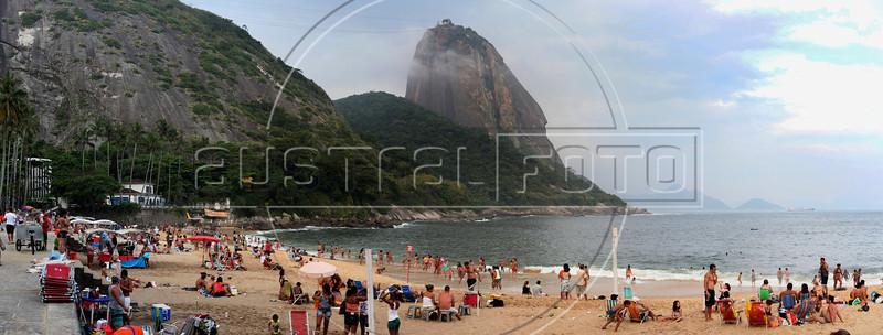 """A view of Praia Vermelha Beach in Rio de Janeiro. Approximate location:     ,  22° 57'18.22""""S. 43° 9'53.86""""W (Australfoto/Douglas Engle)"""