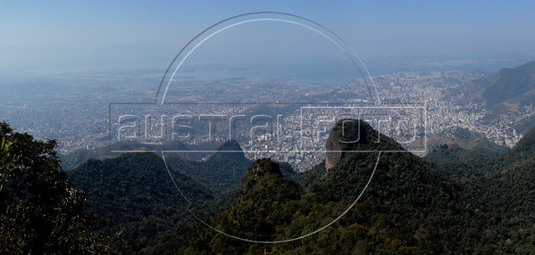 A viw of north side Rio de Janeiro, Brazil, Sept 16, 2012, from the Tijuca peak.  Approximate location: -22.9438, -43.2861 (Australfoto/Douglas Engle)