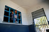 An inmate waits to participate in an inmate music contest at Talavera Bruce women's penitentiary in Rio de Janeiro, Brazil, Sept. 4, 2007.  (Renzo Gostoli/Australfoto)