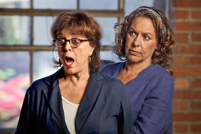 "L-R, Susan Harloe and Sheila Balter in ""Dolly"" by Alice Munro.Photo by Mark Leialoha"