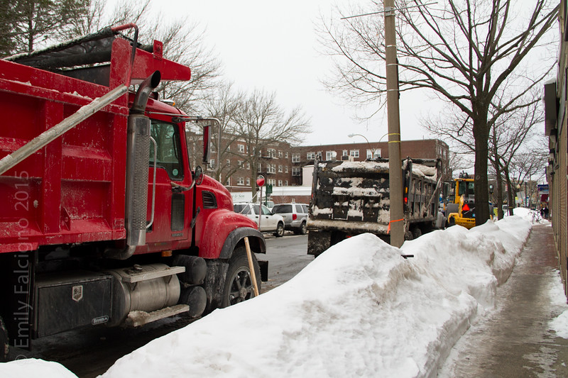 Trucks lining up. Outside. Just to get snooow.