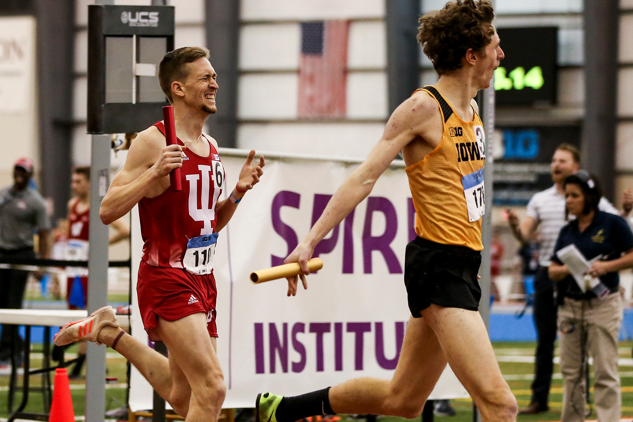GENEVA, OH - February 23, 2018 -- Joe Murphy  of the Indiana Hoosiers during the Indoor Big Ten Championships at the SPIRE Institute in Geneva, Ohio. Photo by Steven Leonard/Indiana Athletics