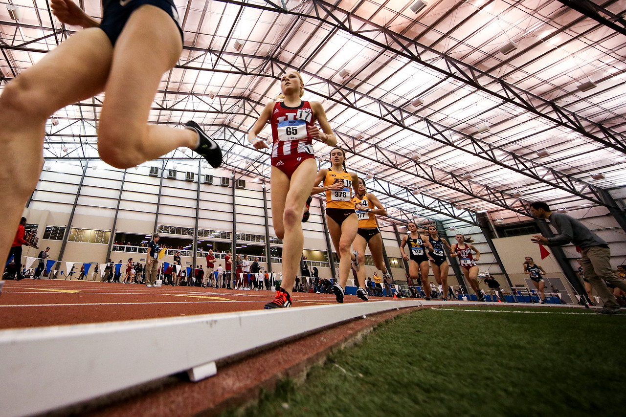GENEVA, OH - February 23, 2018 -- Maggie Allen of the Indiana Hoosiers during the Indoor Big Ten Championships at the SPIRE Institute in Geneva, Ohio. Photo by Steven Leonard/Indiana Athletics