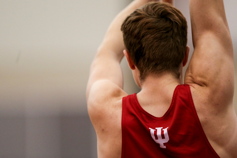 GENEVA, OH - February 23, 2018 -- Alex Shinneral of the Indiana Hoosiers during the Indoor Big Ten Championships at the SPIRE Institute in Geneva, Ohio. Photo by Steven Leonard/Indiana Athletics