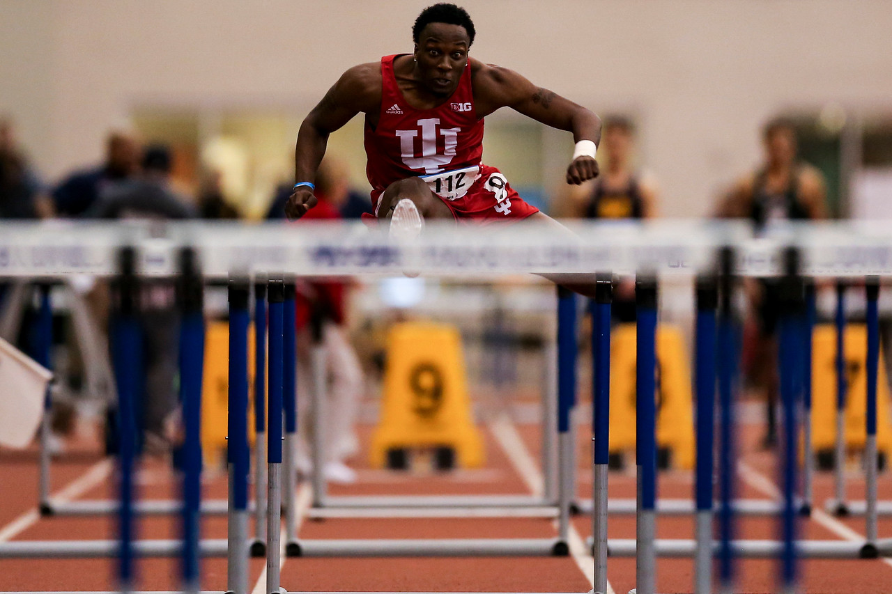 GENEVA, OH - February 23, 2018 -- William Sessions of the Indiana Hoosiers during the Indoor Big Ten Championships at the SPIRE Institute in Geneva, Ohio. Photo by Steven Leonard/Indiana Athletics