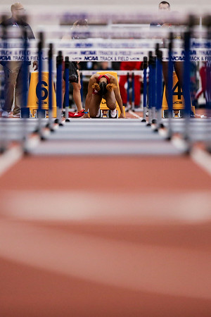 GENEVA, OH - February 23, 2018 -- Zykeria Williams of the Indiana Hoosiers during the Indoor Big Ten Championships at the SPIRE Institute in Geneva, Ohio. Photo by Steven Leonard/Indiana Athletics