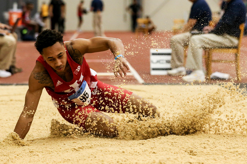 GENEVA, OH - February 23, 2018 -- Eric Bethea of the Indiana Hoosiers during the Indoor Big Ten Championships at the SPIRE Institute in Geneva, Ohio. Photo by Steven Leonard/Indiana Athletics