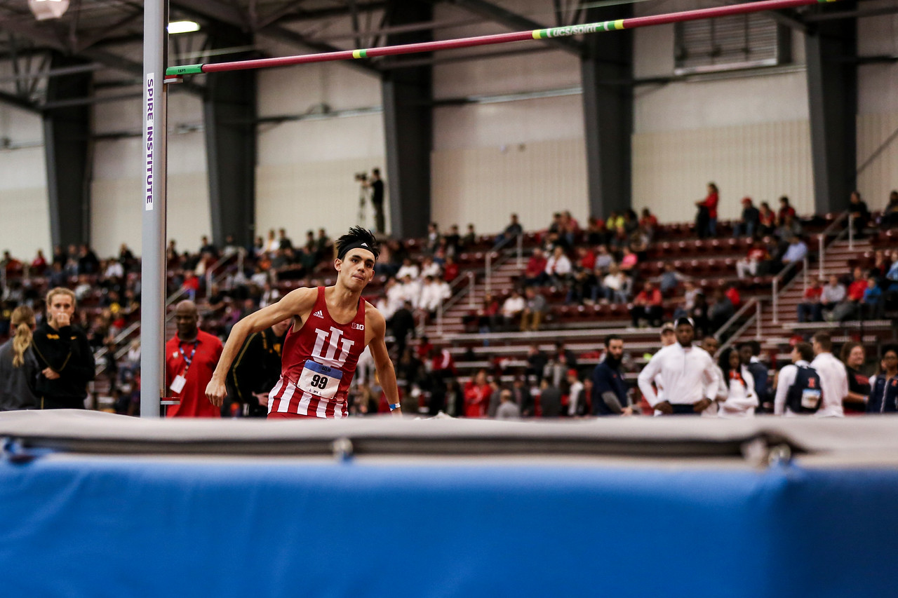 GENEVA, OH - February 24, 2018 - Paul Galas of the Indiana Hoosiers during the Indoor Big Ten Championships at the SPIRE Institute in Geneva, Ohio. Photo by Steven Leonard/Indiana Athletics