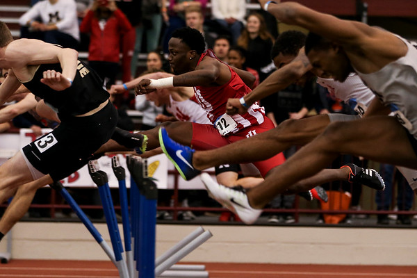 GENEVA, OH - February 24, 2018 - William Sessions of the Indiana Hoosiers during the Indoor Big Ten Championships at the SPIRE Institute in Geneva, Ohio. Photo by Steven Leonard/Indiana Athletics