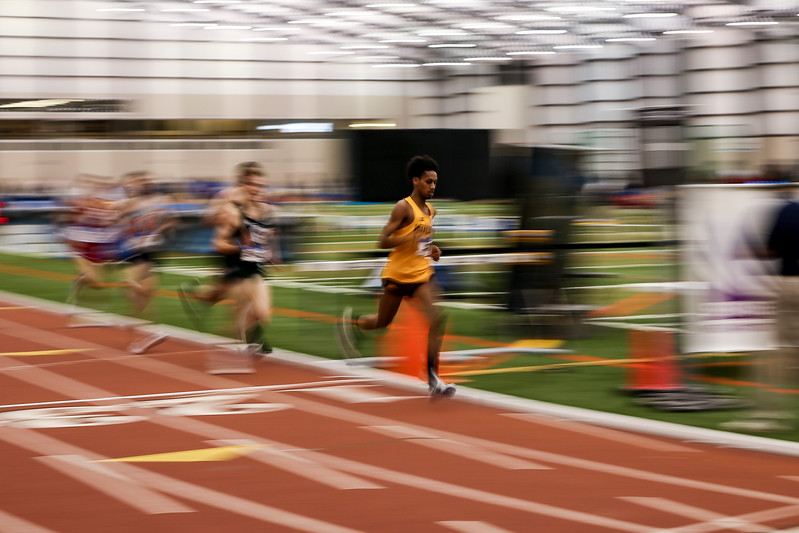 GENEVA, OH - February 23, 2018 -- Minnesota athlete during the Indoor Big Ten Championships at the SPIRE Institute in Geneva, Ohio. Photo by Steven Leonard/Indiana Athletics