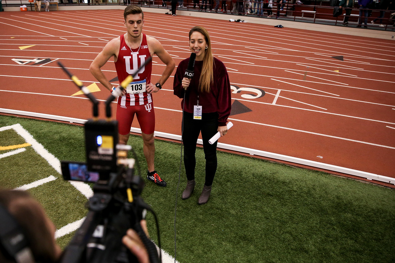 GENEVA, OH - February 24, 2018 - Daniel Kuhn of the Indiana Hoosiers during the Indoor Big Ten Championships at the SPIRE Institute in Geneva, Ohio. Photo by Steven Leonard/Indiana Athletics