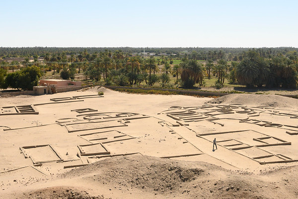 The Kerma City from the top of the Western Defuffa.