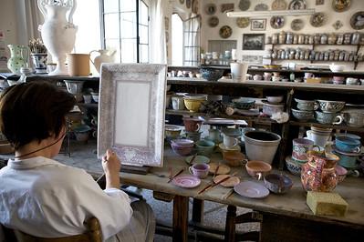 Ubaldo Grazia Maioliche, laboratorio di pittura - Deruta, Italy