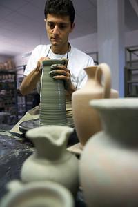 Ceramiche Sberna, laboratorio - Deruta, Italy