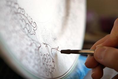 Ubaldo Grazia Maioliche, handmade painting - Deruta, Italy