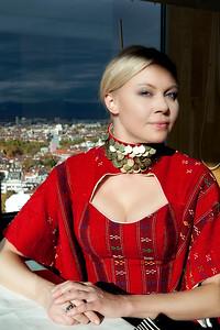 Olga Uskova in Evgeni Petkov's Dress