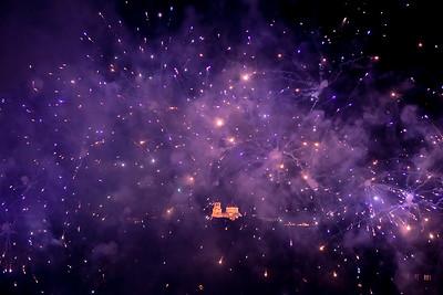 Fireworks on Aleksandr Nevskij Cathedral