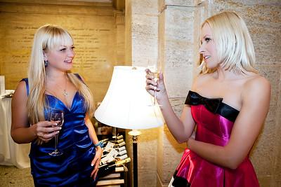 Marika and Kristine at Vogue Vision beauty salon