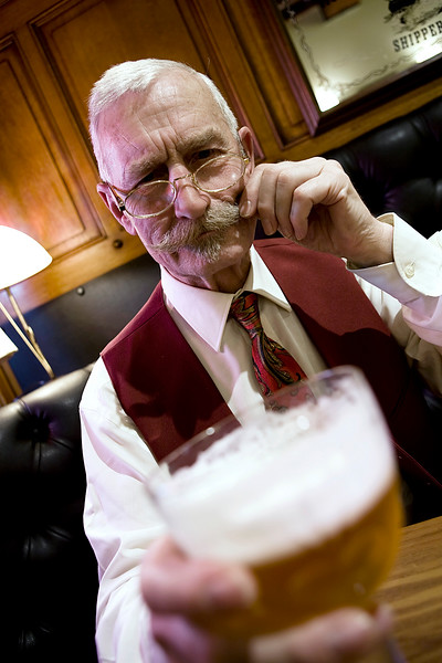 Man drinking beer at the pub