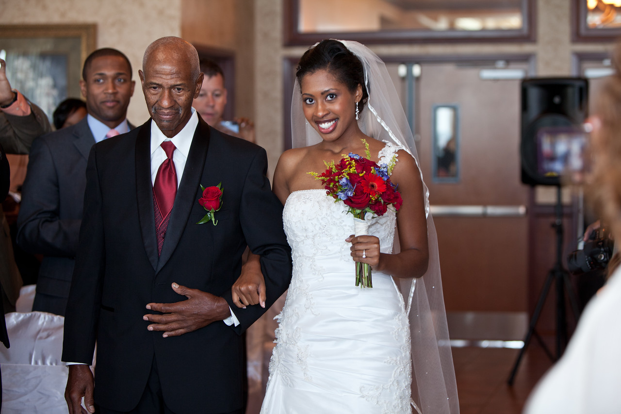 The bride and her father!
