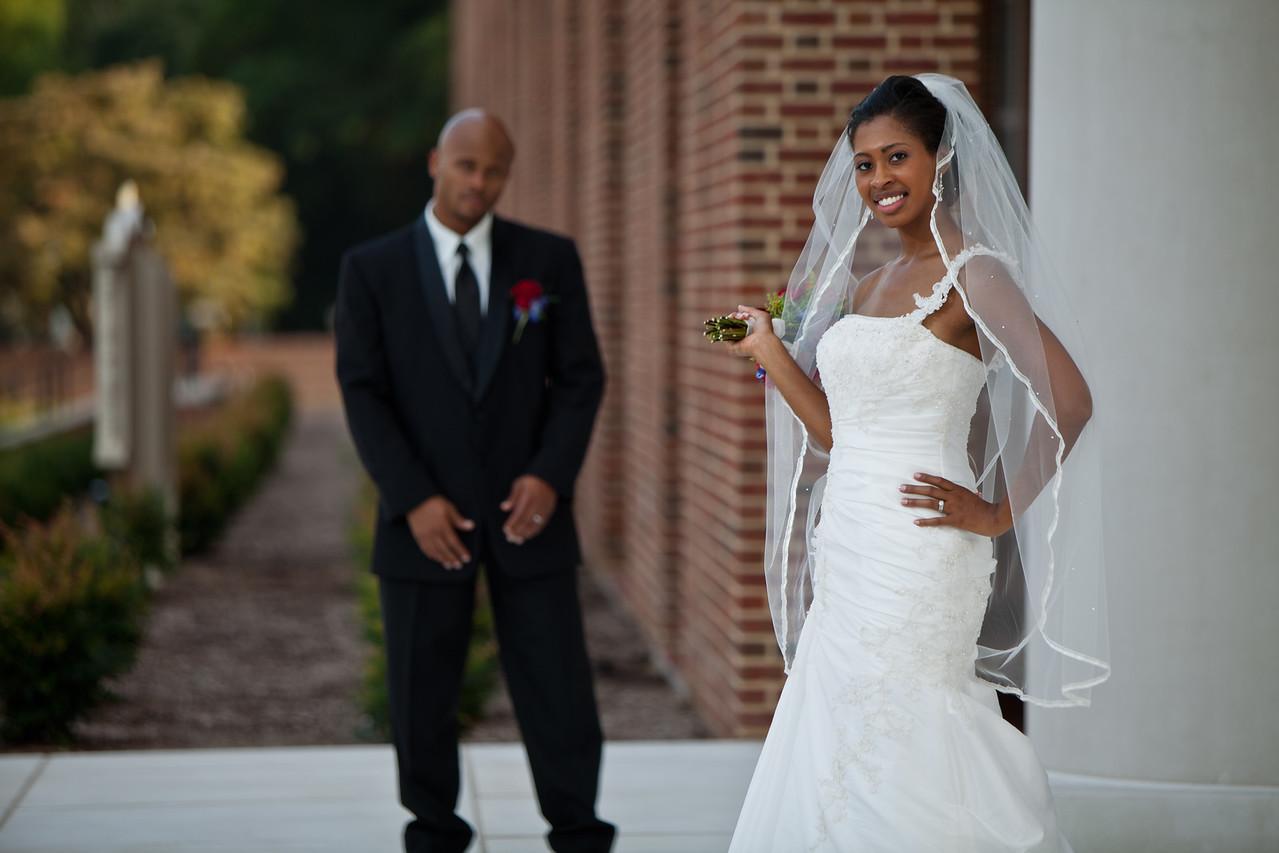The bride posing!