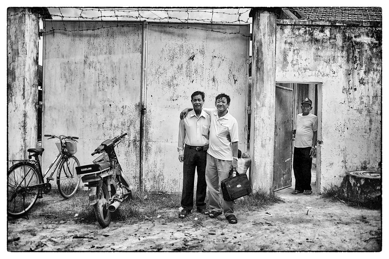 "Ouk and the head of the prison ask me to take a photo of them. Personal relationships are extremely important in places like Cambodia, where the rules and the ""law"" are much more flexible."