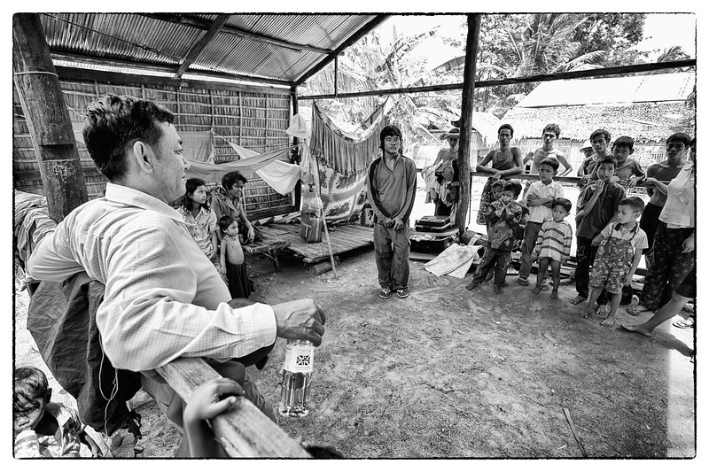 Ouk visits a former client on the way back to the capital that he got out of prison and found innocent on a theft charge. His family lives under the lean-to pictured here. His father is gone, mother is blind and he is blind in one eye and did not complete high school (like most Cambodians), making it hard for him to find work. Ouk sends him money when he can.