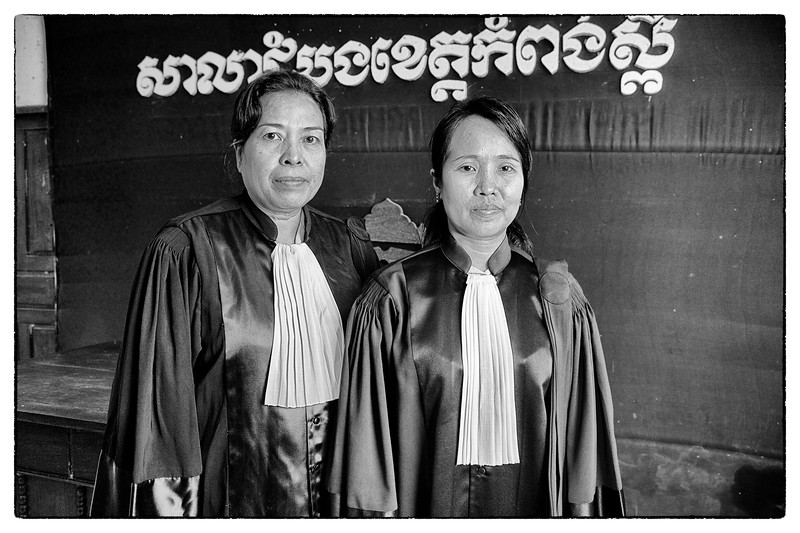 Judges are rare in Cambodia, two female judges are even rarer.