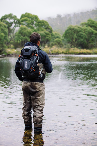 Fly fishing in the Snowy Mountain, Australia. Shot on assignment for Trek Bikes.